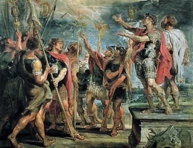 histoire, empire romain, constantin, religion d'état, christianisme, rome, labarum